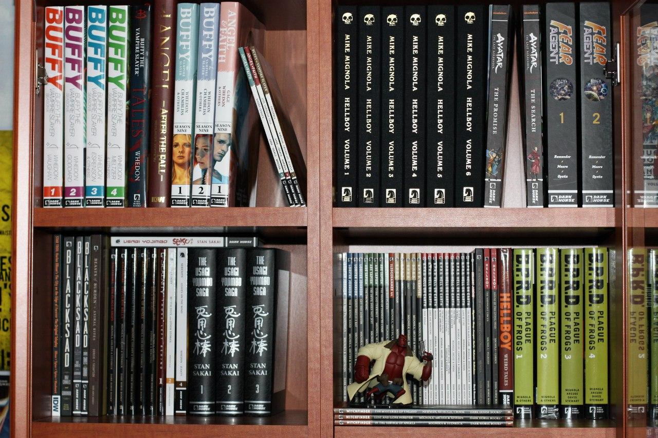 Примеры разных изданий Dark Horse Comics. Library формат, увеличенные, стандартные и уменьшенные хардкаверы, ТПБ