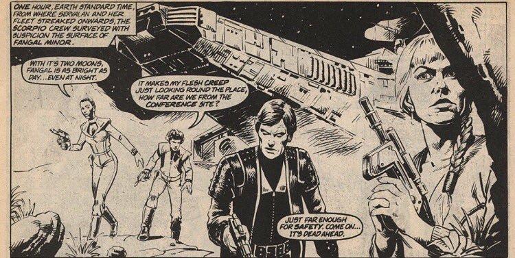 Панель одного из выпусков Blake's 7 Monthly, который Стив рисовал для Marvel UK